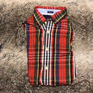 Tommy Hilfiger Mens Plaid Button Down Small